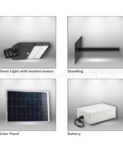 โคมไฟถนนโซล่าเซลล์ 40W Dual-G (เดย์ไลท์) EVE