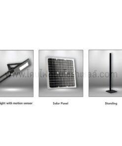 โคมไฟถนนโซล่าเซลล์ 40W Dual-E (เดย์ไลท์) EVE