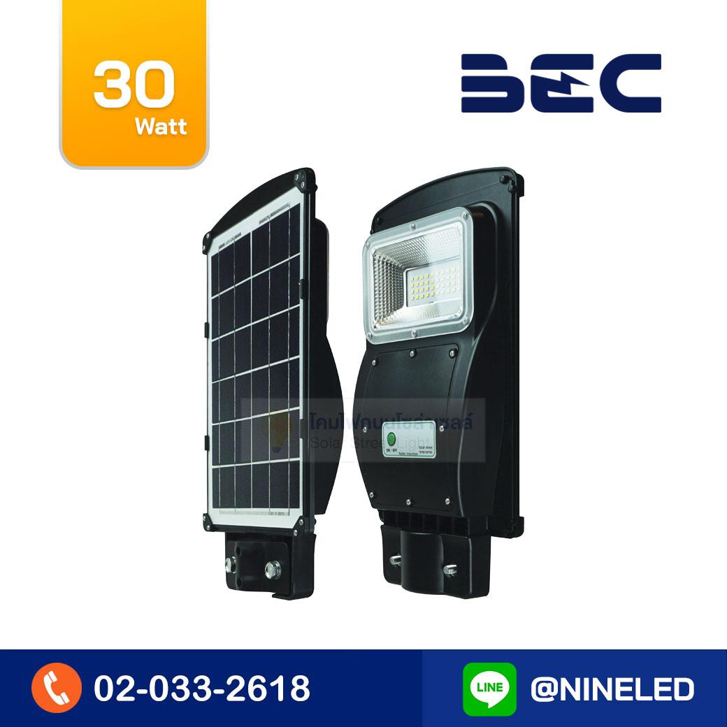โคมไฟถนนโซล่าเซลล์ LED 30W BEC VIENNA