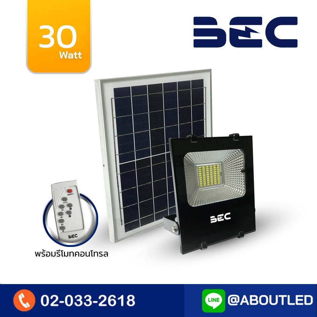 สปอร์ตไลท์ LED โซล่าเซลล์ 30w BEC CHEETAH
